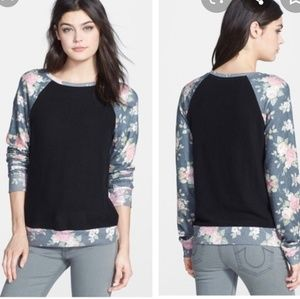 WILDFOX Black Rose Pullover